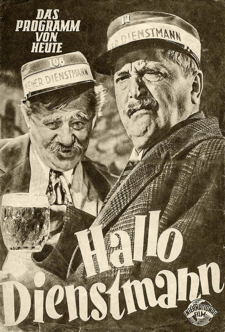 Hallo Dienstmann   Filmprogramm aus dem Jahr 1952 mit Paul Hörbiger und Hans Moser auf dem Tietelblatt (International Film)