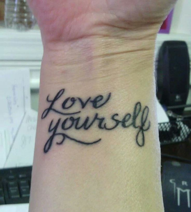 Tattoo Quotes About Loving Yourself: Tattoo Designs