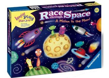 ITs never too early to introduce a space game! RAVENSBURGER Game Race Through Space On this constantly moving galaxy board, fly your rocket many light years through the Milky Way. Dangers lurk everywhere with asteroid fields and black holes! Race to the space stations to collect the most points and win! Promotes skills in strategy, logic and deduction. Players  2 - 4 AGE 4+ #toys2learn #logicgame #ravensburger #boardgame #familyfun