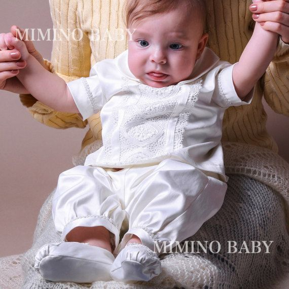 ELISEY bautizo traje traje de bautismo de los niños traje de