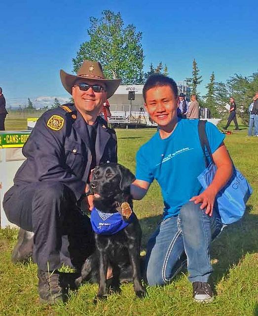 Surveyors meeting local celebrities at the Calgary Fire Department Stampede Breakfast.