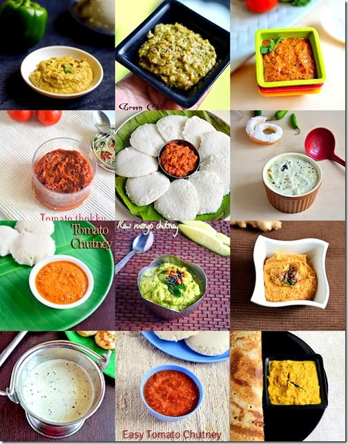 Collection of 35 south indian chutney recipes for idli,dosa & pongal with some tips & tricks
