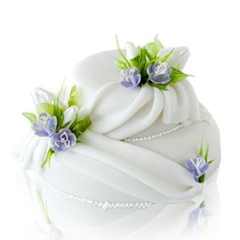 Karamellás tulipános torta Daubner Cukrászda