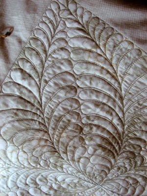 what a great feather shape from http://frantastic-stitchwitchery.blogspot.com/2011/08/in-zone.html: Nanna Quilts, Motion Quilts, Longarm Quilts, Quilts Feathers, Quilts Design, Quilts Longarm, Quilts Ideas, Quilts Freemot, Quilts Patterns Tutorials