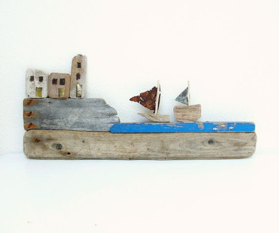 Seashore town Driftwood Wall Art constellation by StarHomeStudio, $155.00