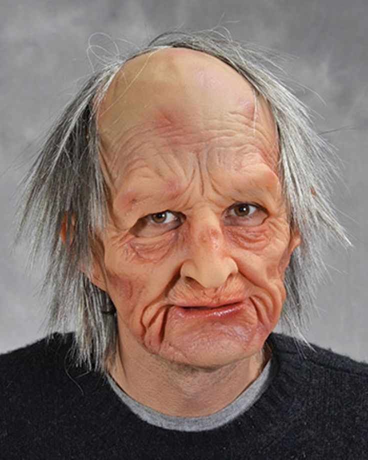 Moving Mouth Grumpy Old Man Mask