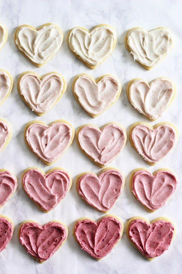 Ombré Raspberry Lemon Sugar Cookies | Valentines Cookies