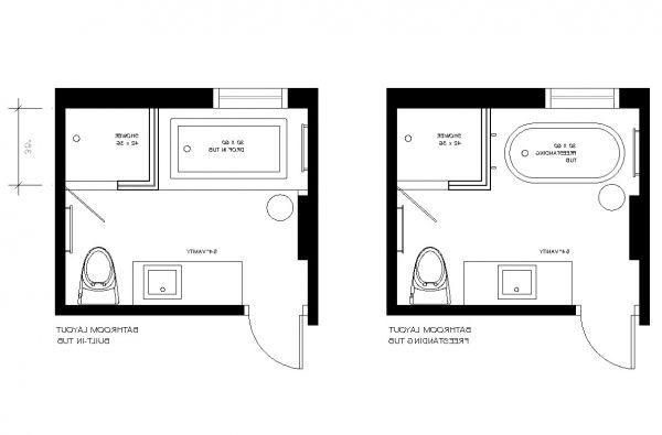 8x8 Bathroom Floor Plan With Shower