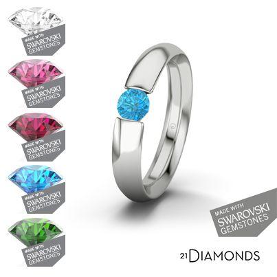 Tee näin - valitse sormusmalli, valitse jalokivi, valitse metalli - valmis! #21Diamonds tarjoaa sinulle yksilöllisiä ratkaisuja!