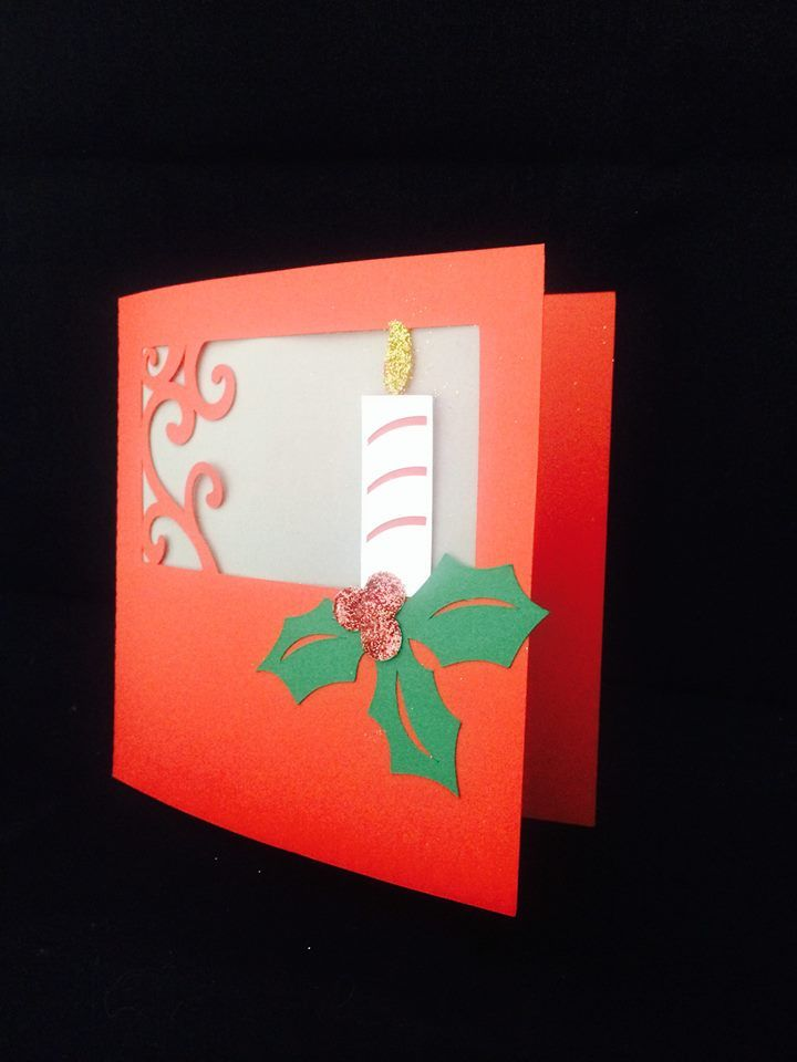 Tarjeta cortada en Cameo, utilizando papel Vellum y Glitters de Silhouette
