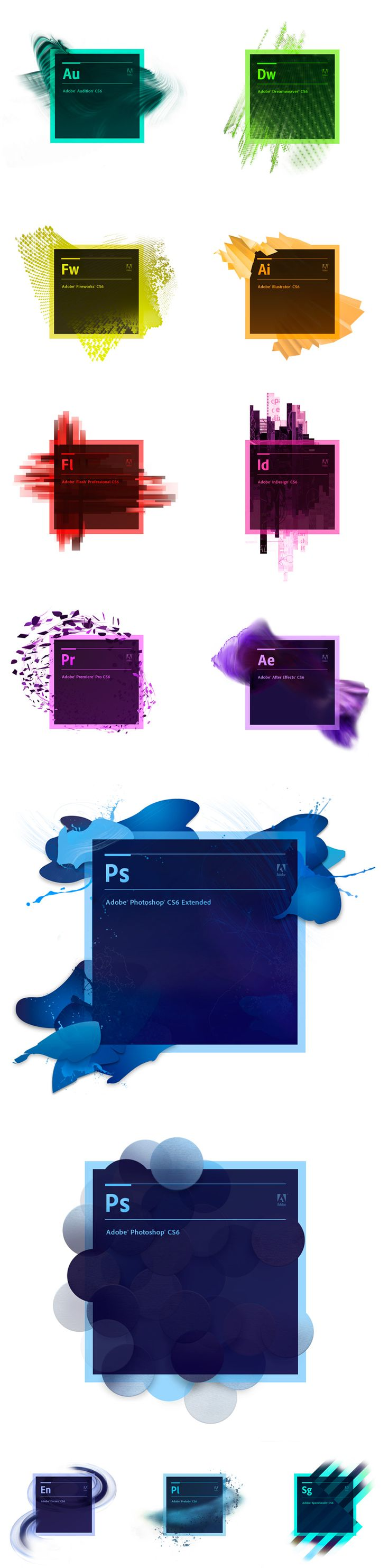 The new Adobe CS6 branding | #stationary #corporate #design #corporatedesign #logo #identity #branding #marketing <<< repinned by an #advertising agency from #Hamburg / #Germany - www.BlickeDeeler.de | Follow us on www.facebook.com/BlickeDeeler
