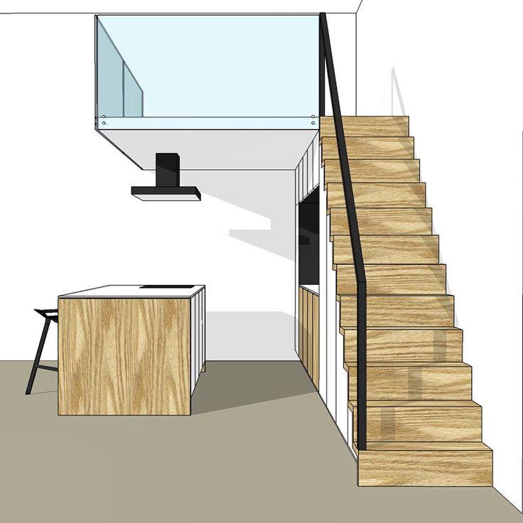 1000 images about ontwerp design tekeningen werkplaats justus tjebbo op pinterest - Interieur ontwerp trap ...