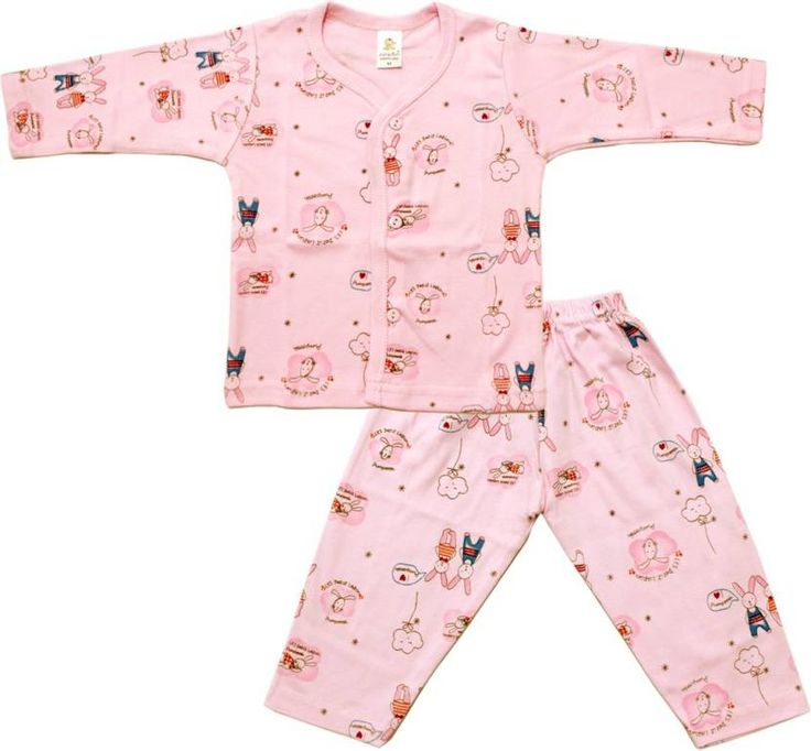 A #Cute #Rabbit #Printed T-Shirt and #contrast #color trouser #makes an #attractive and #stylish set. Kids will be #comfortable in this #set all #day #long.