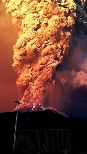 Tthe volcano is the second in southern Chile to have a substantial eruption since March 3, when the Villarrica volcano emitted a brief but fiery burst of ash and lava