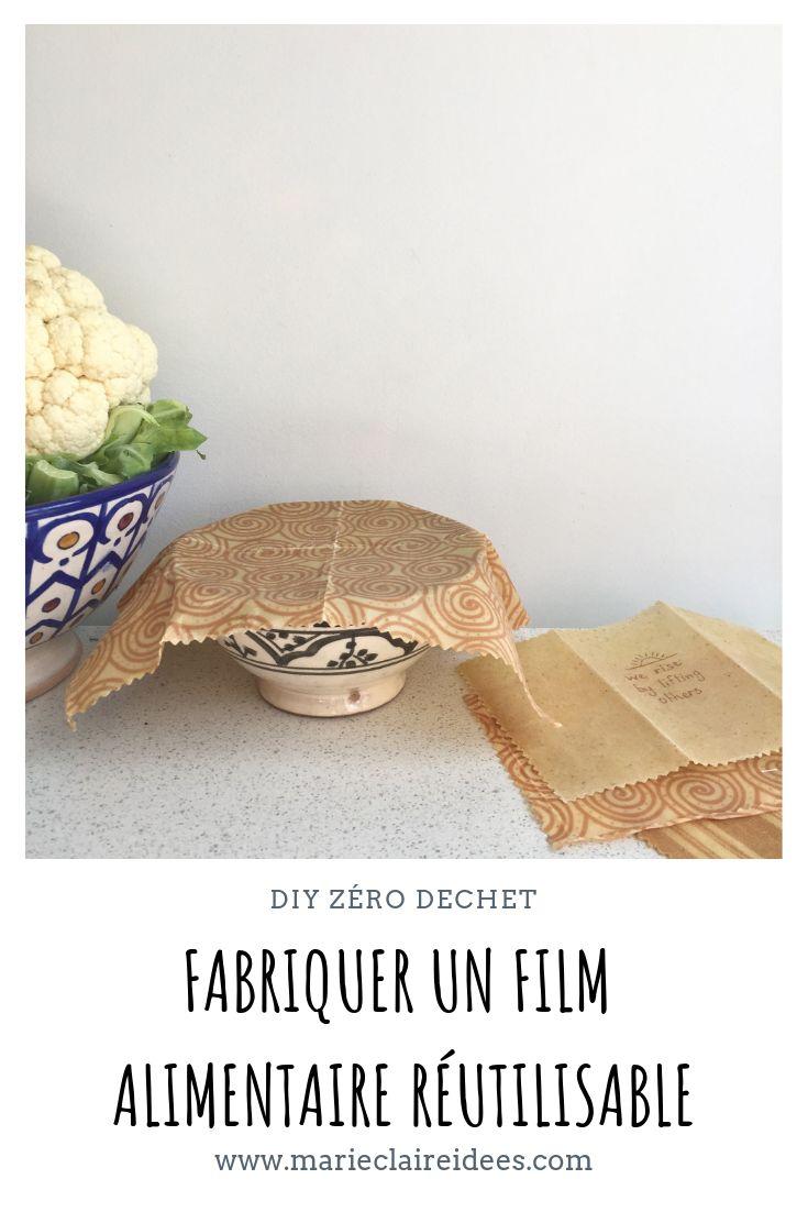 Fabriquer un film alimentaire réutilisable