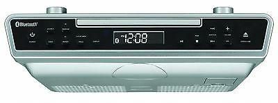 Sylvania Kitchen Under Cabinet FM CD Bluetooth Remote Silver with Mounting Screws