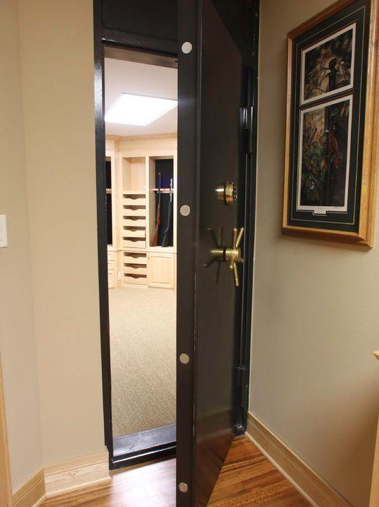 Vault Door To Secret Gun Storage Room Safe Room Ideas