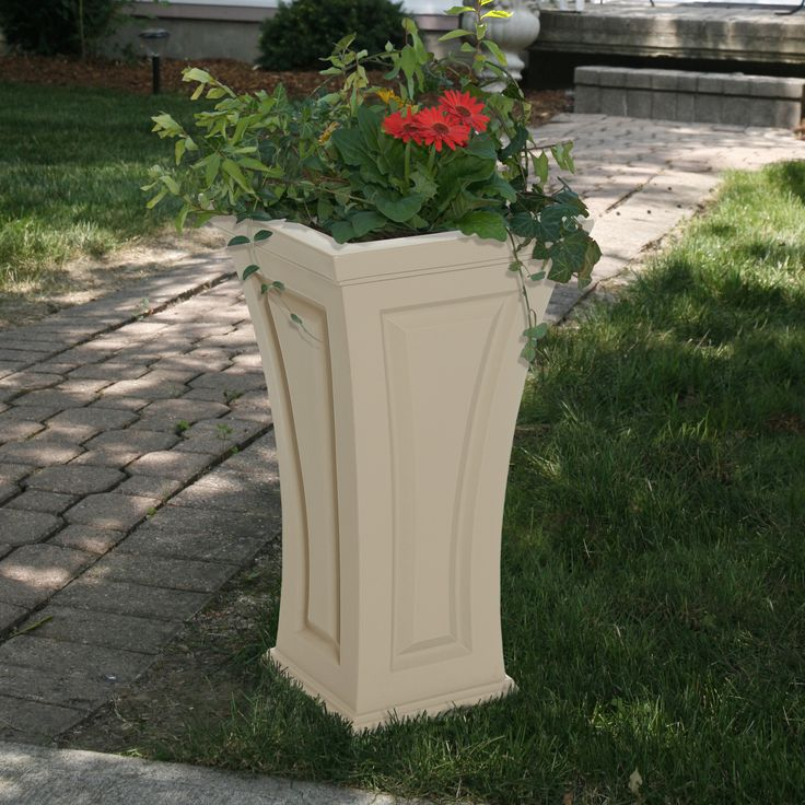 Mayne Cambridge Tall Planter Clay 4834-C