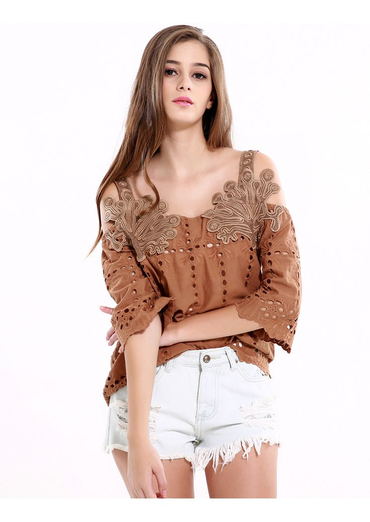 Retro Style Lace Blouse (B0086)   #caterpillar #barnard #lafond #bernardlafond #cottage glaze #groove #moda #shop #shopping #blouse #womenblouse #girlsblouse #shop