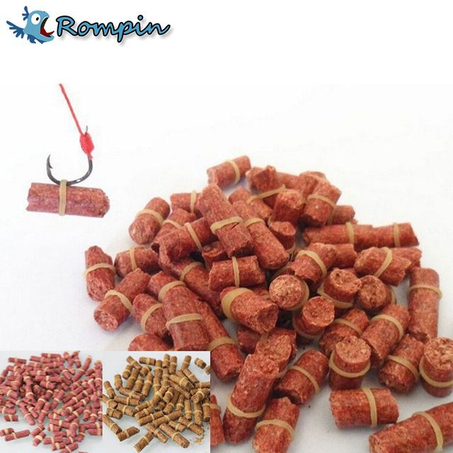 Rompin 100pcs/bag Red carp fishing bait smell Grass Carp Baits Fishing Baits lure formula insect particle rods suit particle