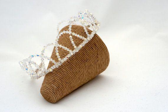 Crown Tiara - Swarovski Crystal Crown - Bridal Accessories - £70.00