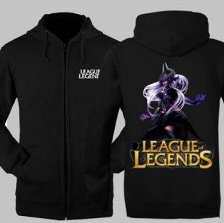 LOL Oversized Syndra zipper hoodie para homens League of Legends camisolas de jogo