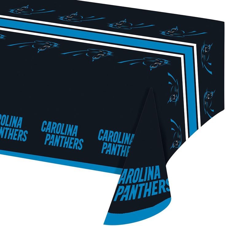 Creative Carolina Panthers Plastic Tablecovers, Case of 12