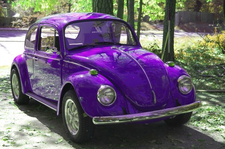 Purple VW Beetle