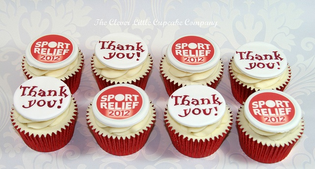 Sport Relief Cupcakes, via Flickr.