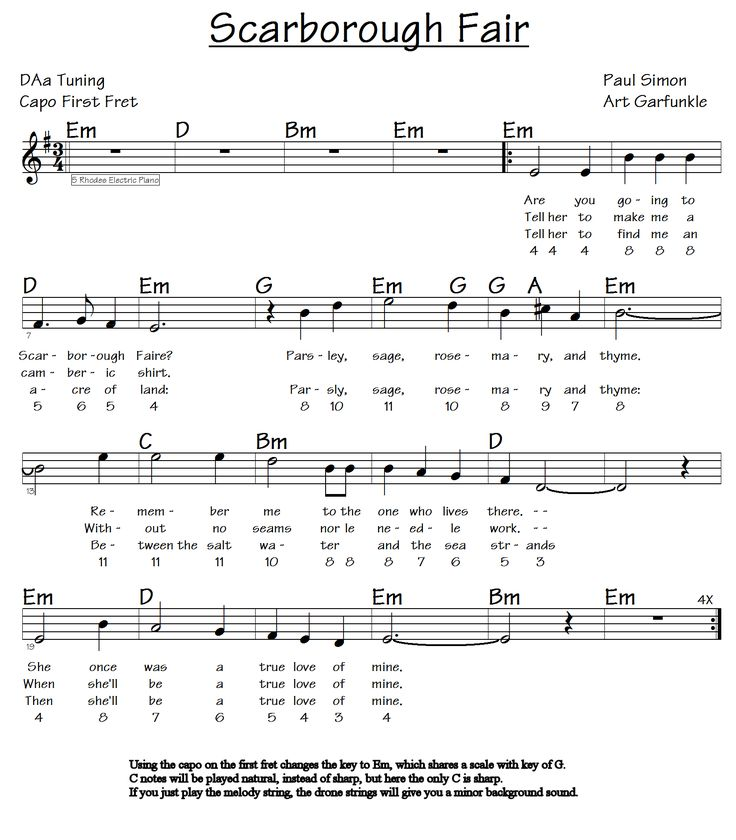 Free Easy Piano Sheet Music Score Scarborough Fair: Lyric Music And Chords: 10+ Handpicked Ideas To Discover