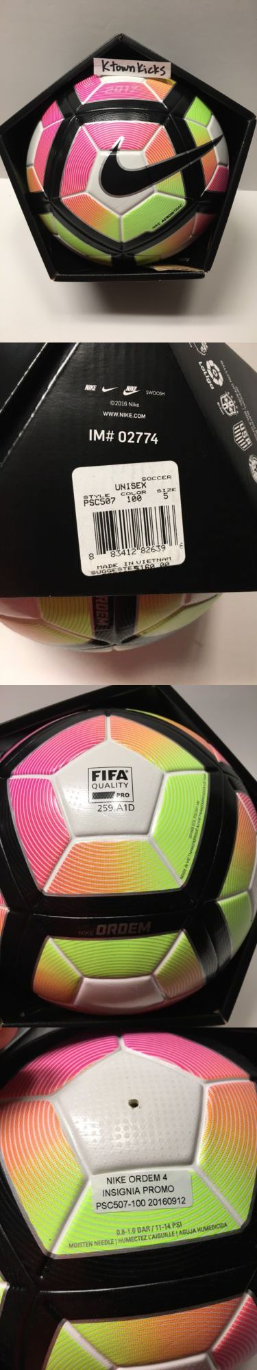 Balls 20863: Nike Ordem 4 Insignia Promo Fifa Soccer Ball Multicolor Psc507 100 Size 5 -> BUY IT NOW ONLY: $49.99 on eBay!