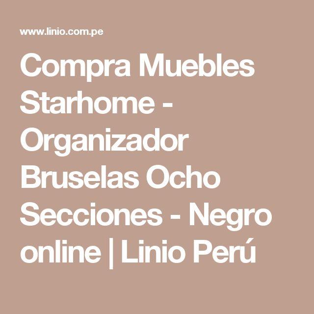 Compra Muebles Starhome - Organizador Bruselas Ocho Secciones - Negro online | Linio Perú