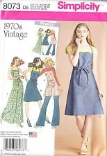 Винтаж ретро 1970s упаковка фартук платье в три корпуса (4-12) выкройка