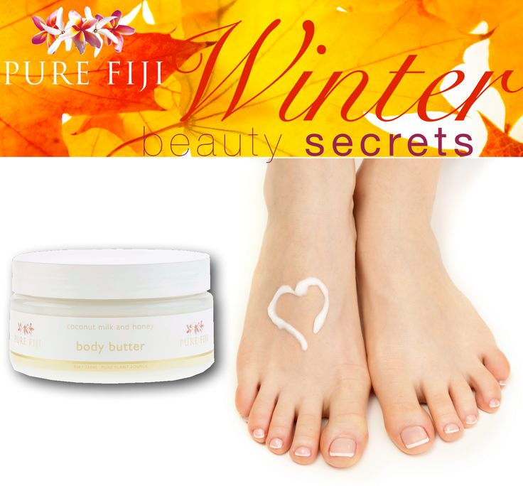 Hidden away in gloves and socks, it can be easy to neglect our hands and feet in winter.   For intense relief from dry chapped skin, use our fantastic Pure Fiji Body Butter to moisturise hands and feet at night and slip on gloves or socks to lock it in!  Have you tried our Body Butter?  Sophia :)