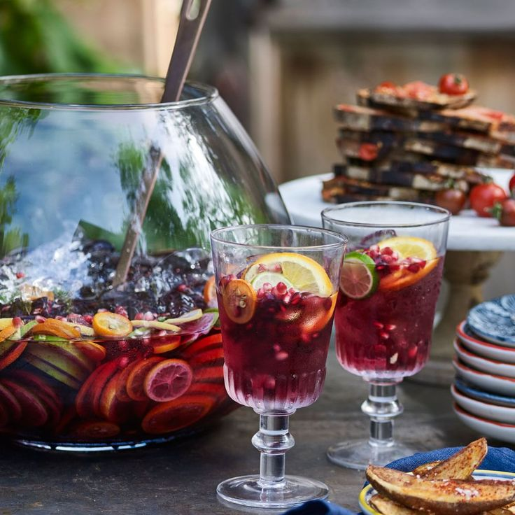 Sangria | If you have some cold sparkling water in the fridge, you can assemble a pitcher of this refreshing sangria in a matter of minutes. When serving a crowd, double or triple the recipe and let guests serve themselves from a large punch bowl.