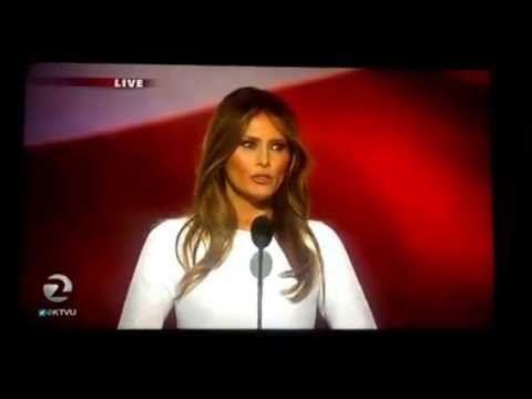 Melania Trump Accused of Plagiarizing Michelle Obama in Republican Convention Speech - http://cybertimes.co.uk/2016/07/19/melania-trump-accused-of-plagiarizing-michelle-obama-in-republican-convention-speech/