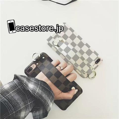 LVルイ・ヴィトン人気ダミエ調ハンドバッグ式iPhoneX/8/7Plus/6sケース卓上スタンド女子アイフォンX/8Plus/8/7plus携帯カバー ハイブランド ルイ・ヴィトンiPhone6sPlus/6sスマホジャケット高級LOUI
