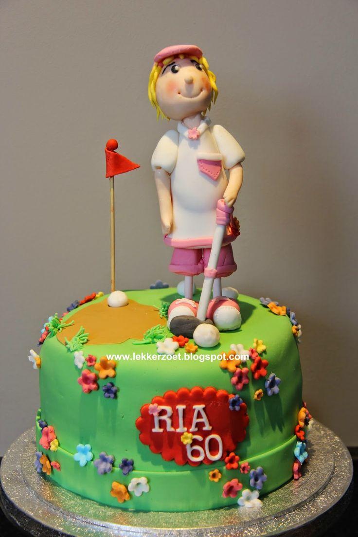 lekker zoet: golf taartje voor Ria 60 jaar