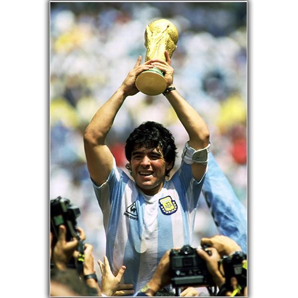 Argentina Maradona World Cup Poster In 2020 Soccer Poster Diego Maradona World Cup