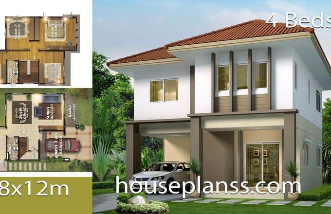 House Plans Design 8x12 With 4 Bedrooms House Plans S Home Design Plans Modern House Plans House Design