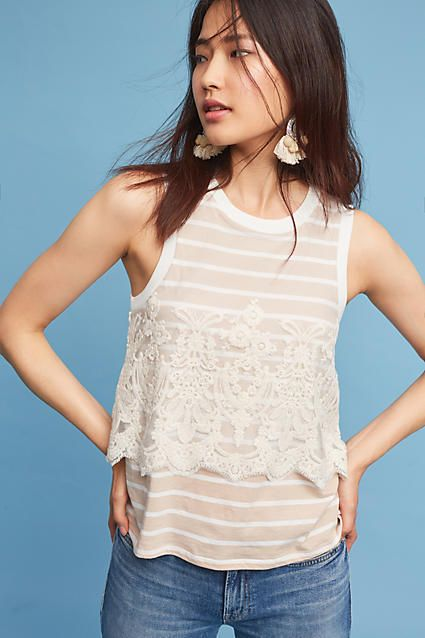 Anthropologie Laced Nautique Tank