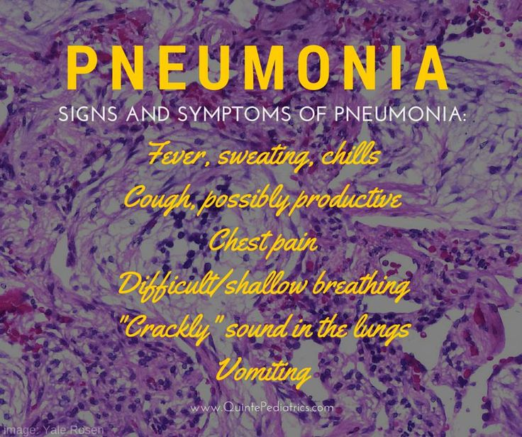 Signs and symptoms of #pneumonia
