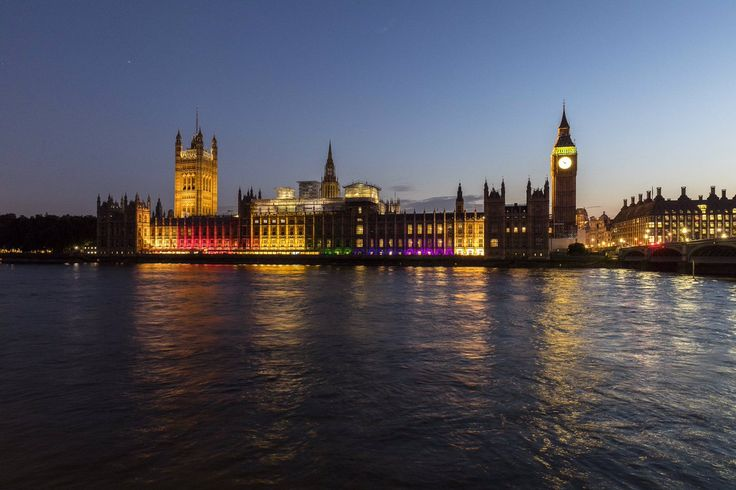 UK Parliament lights up ahead of Pride in London Parade