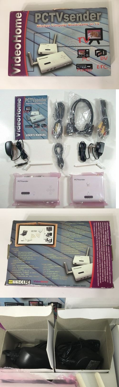 Audio Video Transmitters: Videohome Pc/Tv Sender Receiver Computer Vga To Ntsc Tv Composite Video Wireless BUY IT NOW ONLY: $64.99