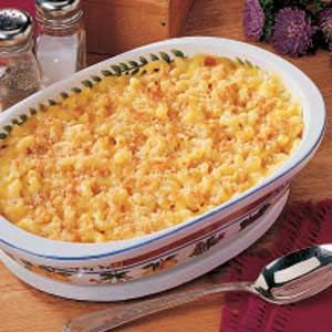 Mom's Macaroni and Cheese Recipe -The wonderful homemade goodness of this creamy macaroni and cheese makes it a staple side dish in my mother's kitchen and in mine as well. It has tender noodles and a crowd-pleasing golden crumb topping. -Maria Costello, Monroe, North Carolina