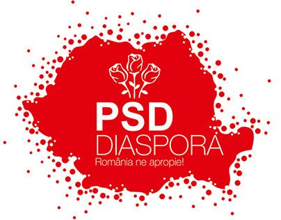 Rebranding for Abroad Social Democratic Party - design by Gilbert Vasile