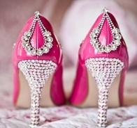 Custom pink shoes