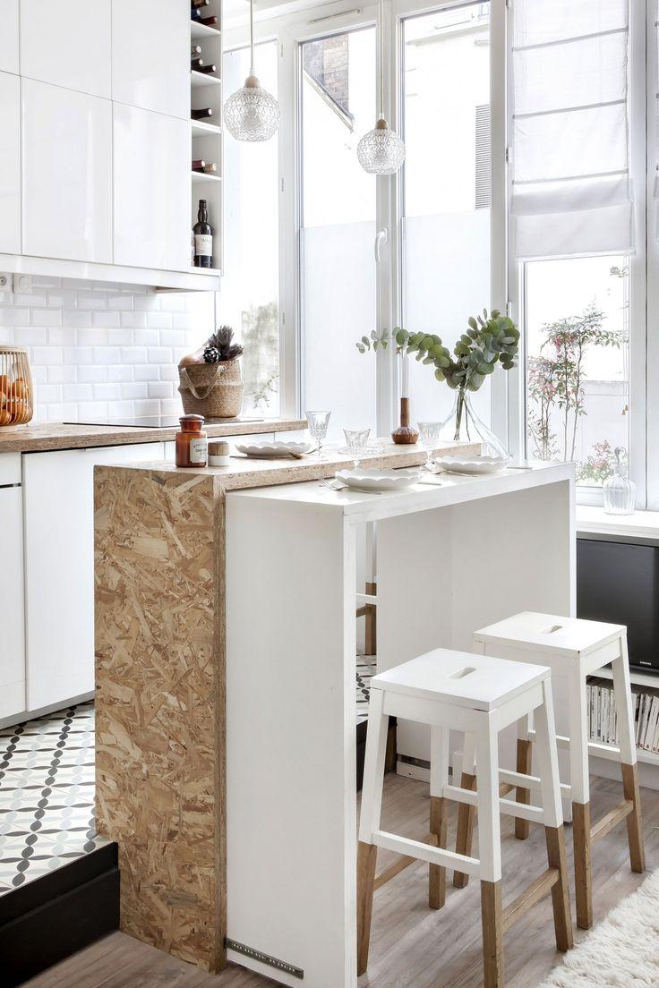 Avant apr s un mini loft parisien qui a tout d 39 un grand studio mini loft maison usin e for Mini maison usinee