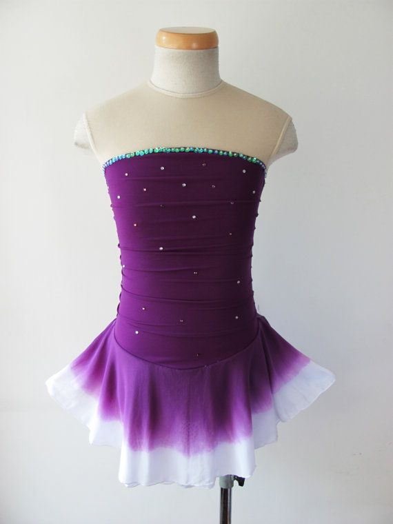 Custom Figure Skating Competition Dress  'Lynn' by UnionBeautiful, $89.00 ? Longer version with arms could look mermaid like?