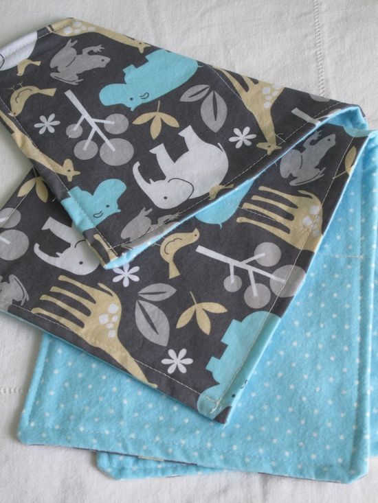 DIY burp cloths- a super simple sewing project made in